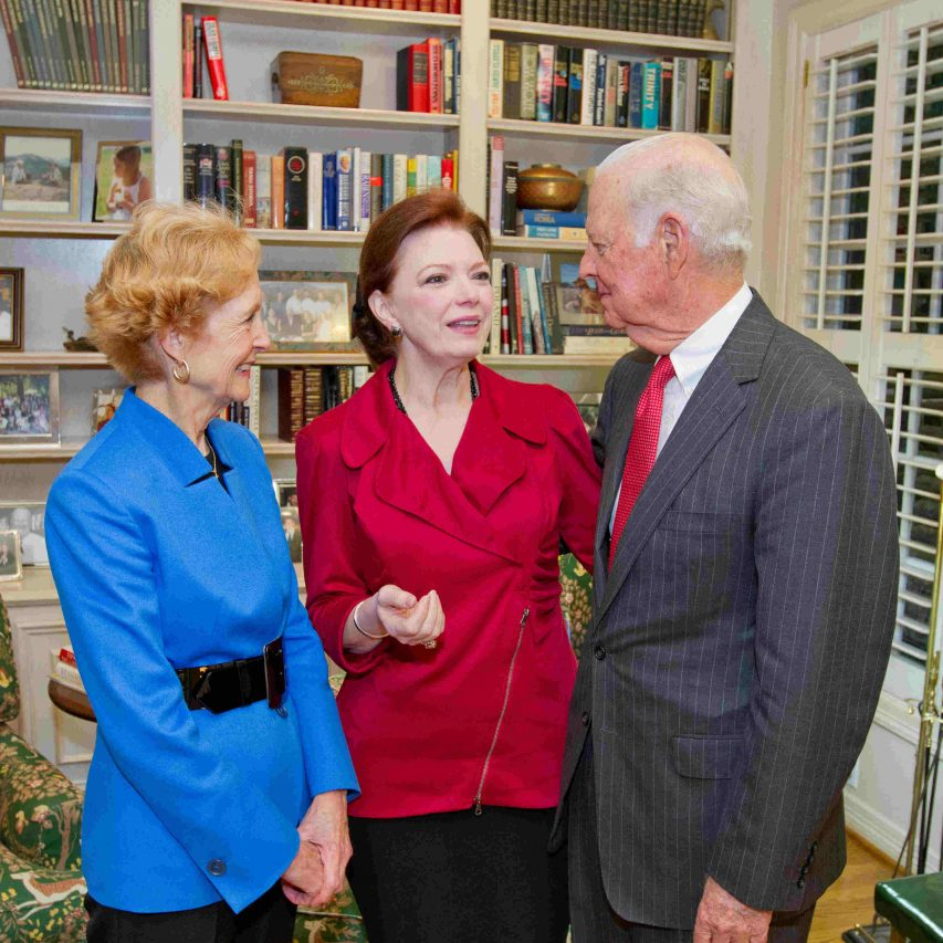 Angela with Susan G. Baker and former Secretary of State and Secretary of the Treasury, James A. Baker III