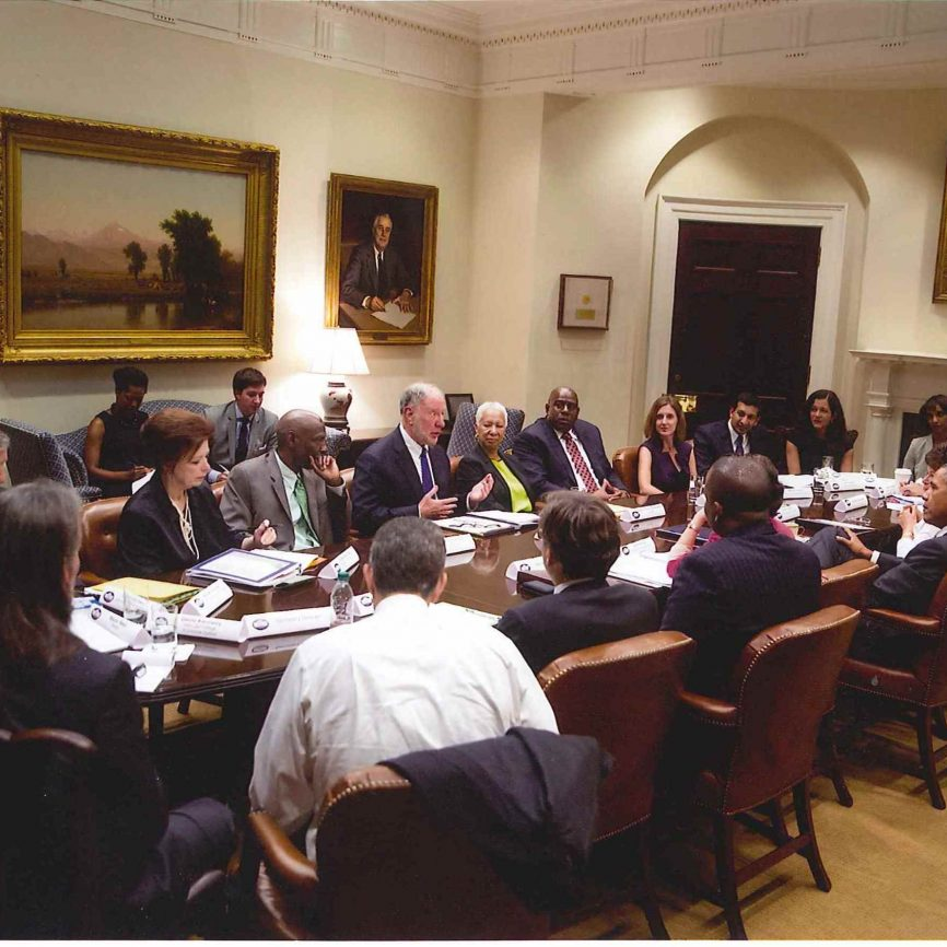 Angela at the White House Meeting with Former President Barack Obama and other Community Development Experts