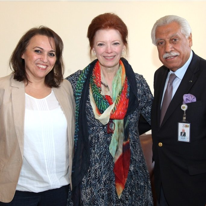 Angela with Aqel Biltaji, Mayor of Amman Jordan
