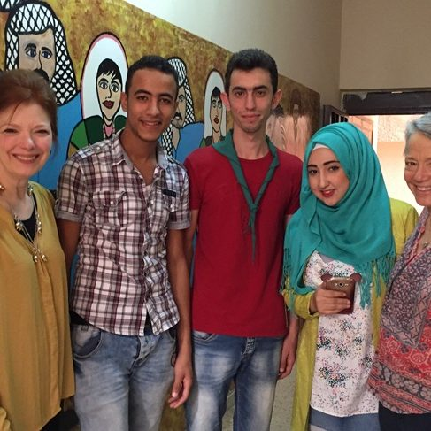 Angela at Burj el-Shemali Refugee Camp in Beirut Lebanon