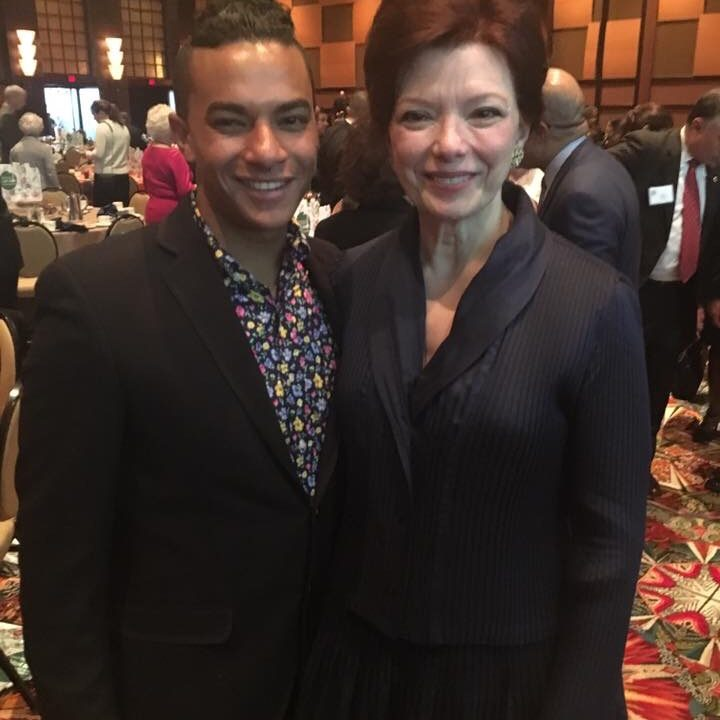 Angela with her son Victor at Heart of Gold Gala